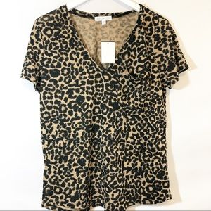 Sanctuary animal print T shirt sz M